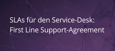 First Line Support Agreements