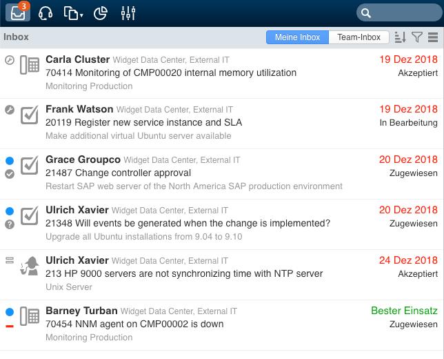 4me Inbox: Übersicht Ihrer offenen Aufgaben in 4me