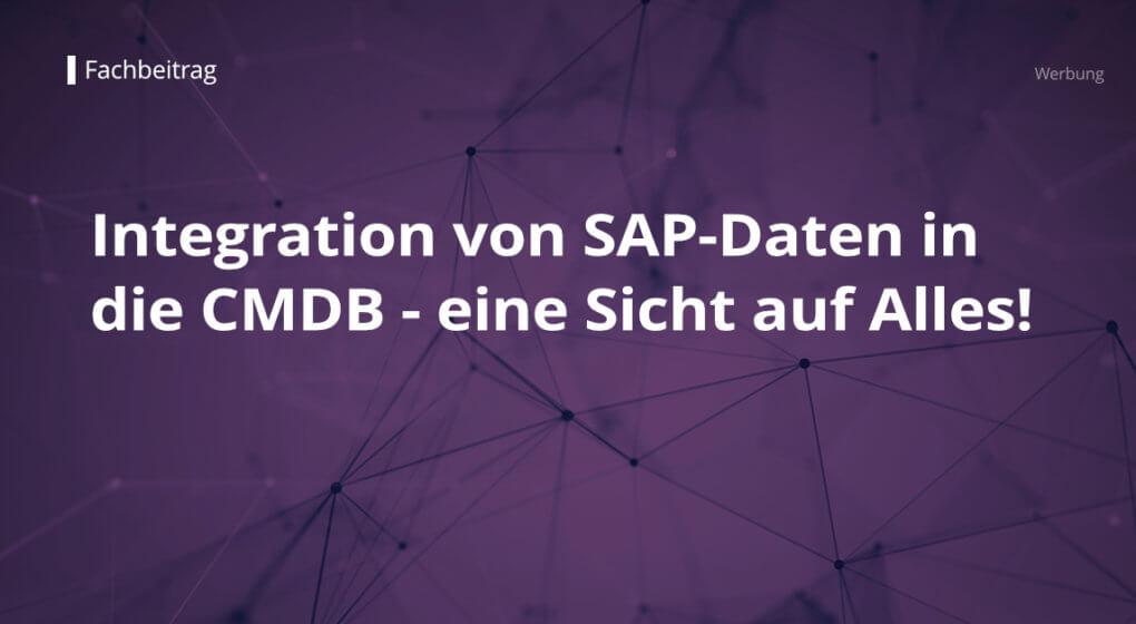 Artikelbild - Integration von SAP-Daten in die CMDB von REALTECH-Service-Management